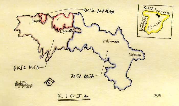 Map of Rioja.